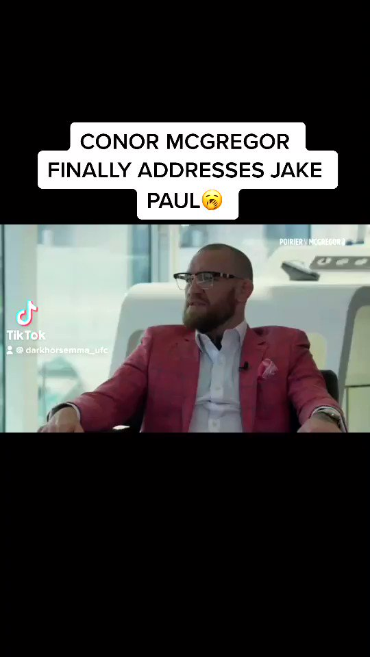 sooooo Mcgregor FINALLY addressed the Jake Paul situation...  I WISH he wasn't even asked about this😭  Do you guys want to see this fight ?  #UFC #UFCFightIsland #conormcgregor #MMA #MMATwitter #MMA2020 #jakepaul