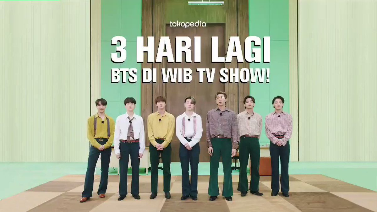 @bighit_united Tokopedia x BTS : 3 HARI LAGI di WIB TV SHOW!  #BTS #방탄소년단 @BTS_twt