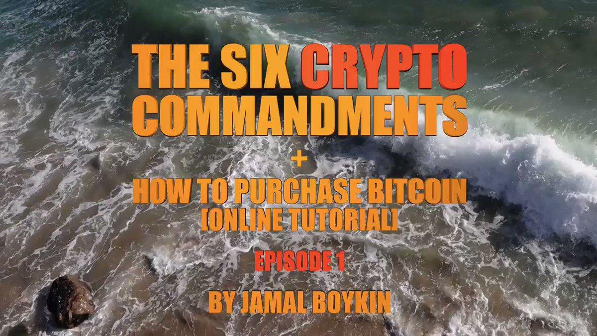 The Six Crypto Commandments     #Bitcoin #Blockchain #BuyTheDip #BlackCrypto #CryptoBros