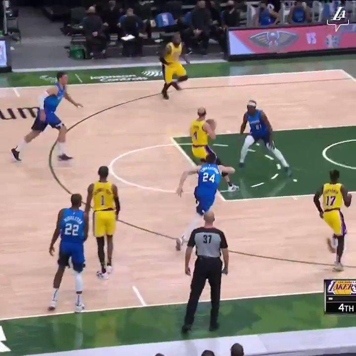 Lebron James Tonight vs the Bucks:  34 Points.  13-35 FG.(52%)  6-10 3PT.(60%)  2-2 FT.(100%)  6 Rebounds.  8 Assists.  1 Steal.  1 Block.  EFG% 64.0  TS% 65.7  King Him. 👑🚀  #NBA #Lakers #LakeShow