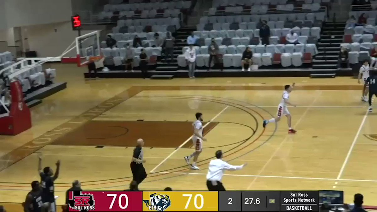 Licon...bucket...swipe...WIN!  Tristen Licon came up clutch with the go-ahead jumper and then a huge defensive play to clinch a 72-70 victory for the Lobos.  #SRSU #ASChoops #d3hoops