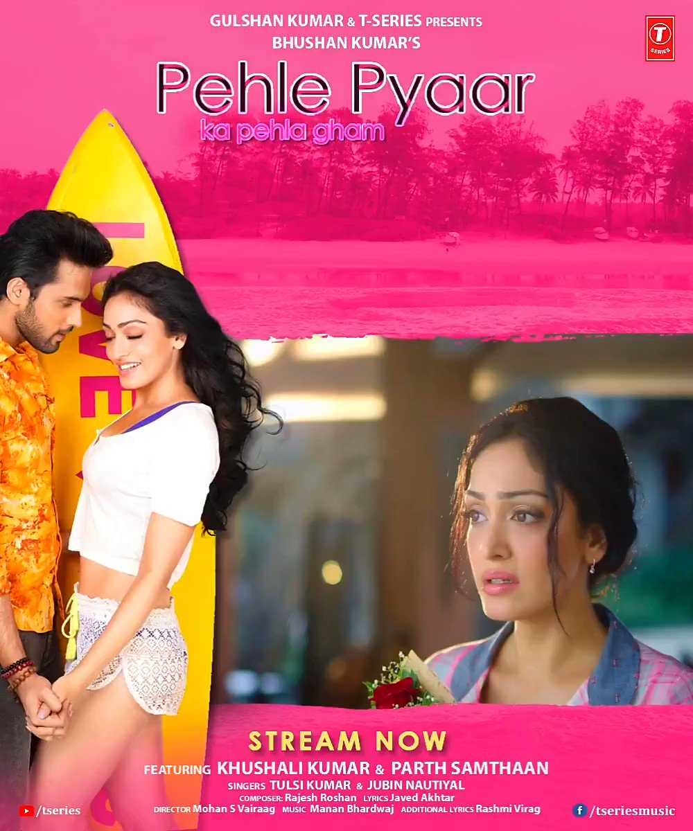 Everyone's in love with our whole new, fresh take on first love and romance as #PehlePyaarKaPehlaGham is now trending on Gaana. Tune in now:   #BhushanKumar @KhushaliKumar @LaghateParth @TulsiKumarTK @JubinNautiyal #MohanSVairaag #RashmiVirag