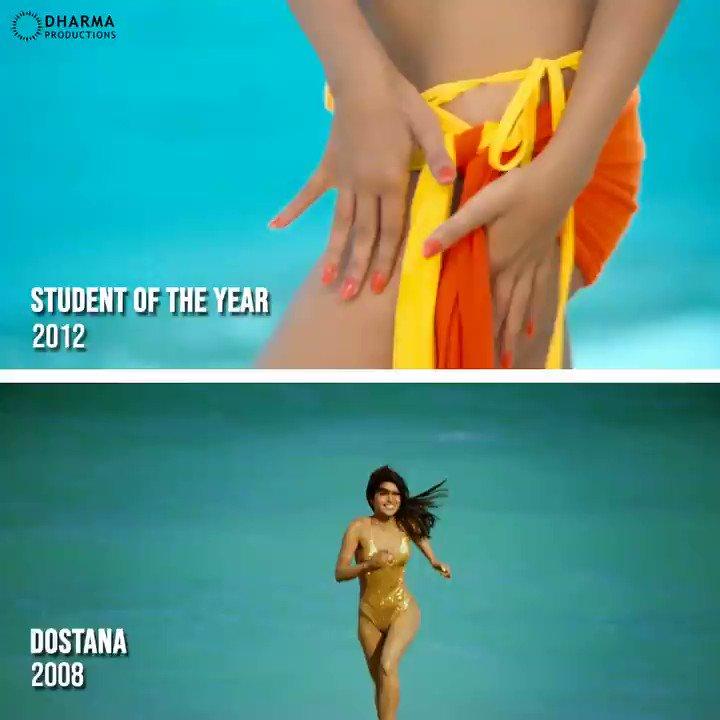 These vivacious #Dharma ladies are raising the temperature! 🔥  #Dostana #StudentOfTheYear @priyankachopra @aliaa08 #SOTY