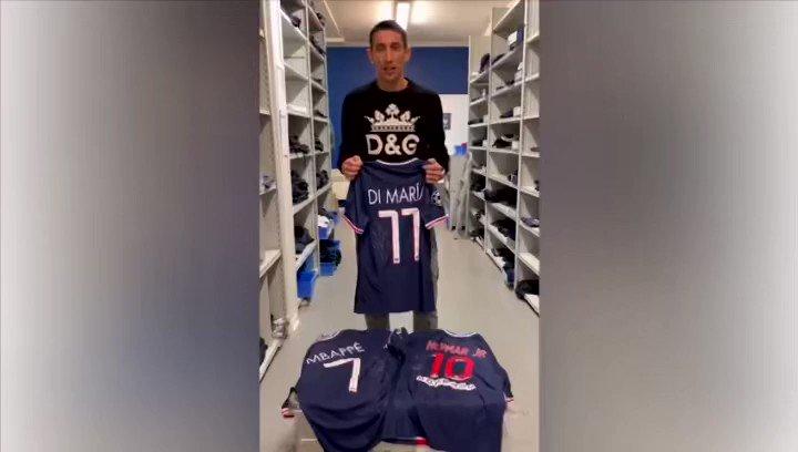 Un altre GOLÀS SOLIDARI que val com un HAT-TRICK👏🏻⚽️⚽️⚽️😊  El jugador del @PSG_inside 🇫🇷🏆 Ángel Di María 🇦🇷 s'uneix a nosaltres amb la seva samarreta signada i la de @KMbappe 🇫🇷i @neymarjr 🇧🇷🤩 ja a  la samarreta de Di María 🇦🇷🧉⚽️🔝 #andorra #psg #paris