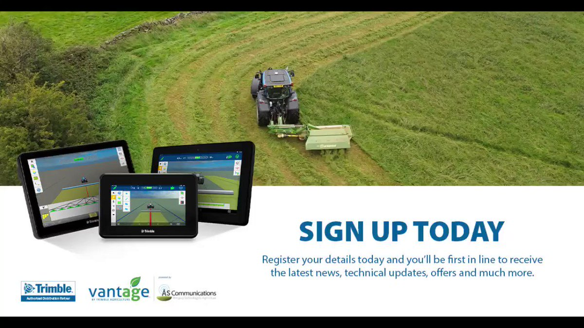 Stay up to date with all the latest news, updates Trimble offers and more from Vantage England & Wales.  Click the link to subscribe now! ➡️➡️  #Subscribe #Trimble #Vantage #PrecisionAg #Farming