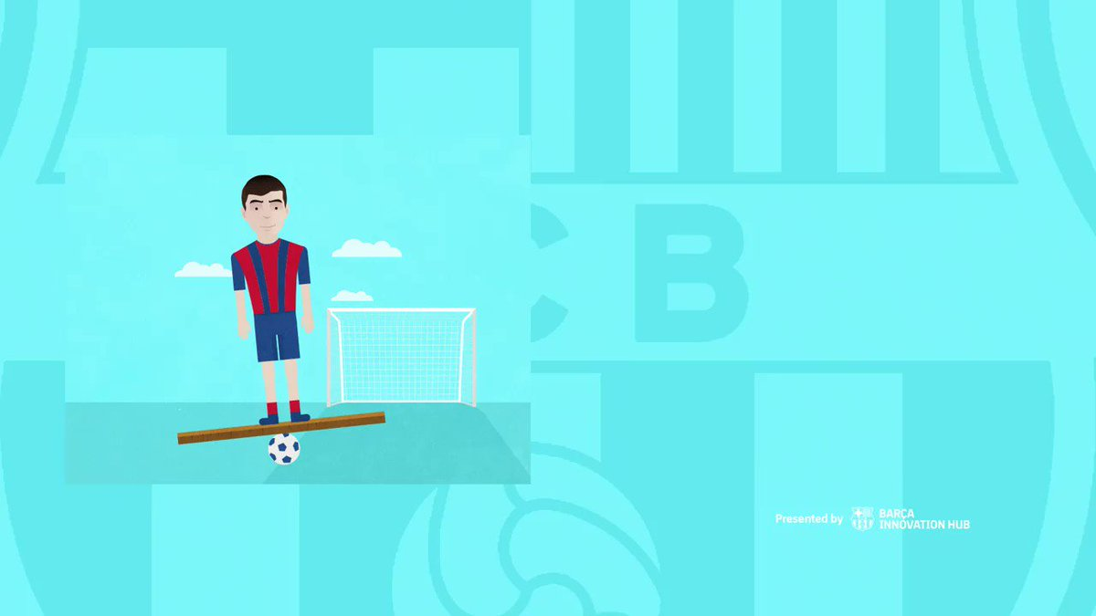 Well-rounded team players combine speed with balance. Practice core training for a rock-solid stability on the field! ⚽🤸♀️  Learn more at  #BarçaPlayerTricks #training @FCBarcelona