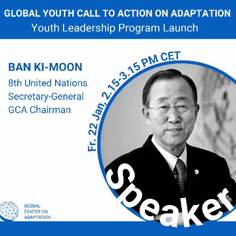 Tune in now as young people from around the world call on leaders to act on #ClimateAdaptation 🌍🌱☀️  📺