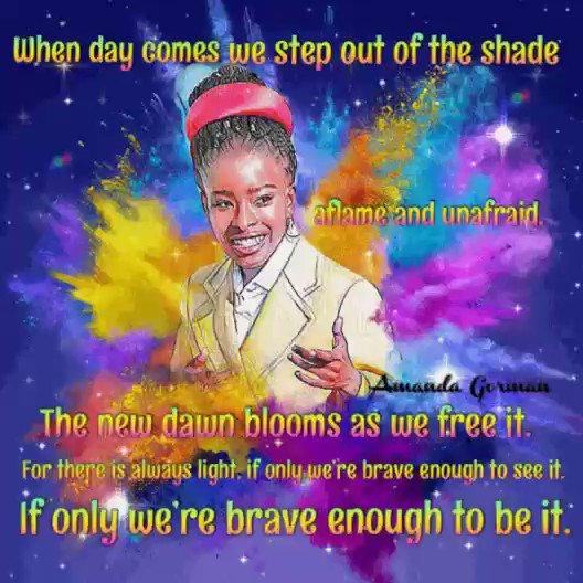 #FridayThoughts #AmandaGorman #AmandaGorman2036 #amandagoreman #Inauguration2021 #InaugurationDay
