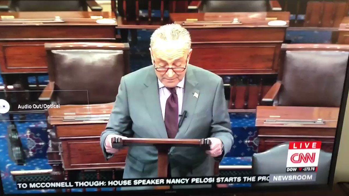 I regret to inform you that Chuck Schumer just said 'erection' instead of 'insurrection' on the Senate floor