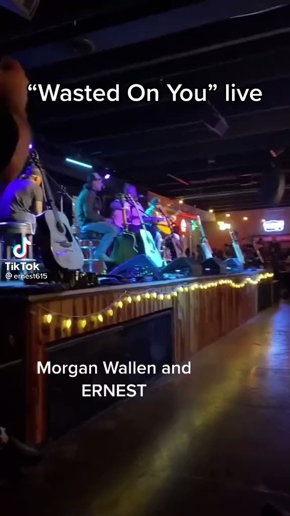 Hold up...@ernest615 @m10penny and @MorganWallen singing #WastedOnYou ?!🤯   This is🔥y'all👏🏻