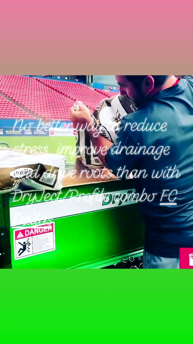 Image for the Tweet beginning: @DryjectHQ @ProfileGolf @Turfaceproducts @FieldExperts @FCDallas