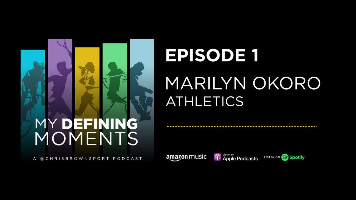 New episode of #MyDefiningMoments podcast coming next week!  But now a #FlashbackFriday to Episode 1 when @mokoro4 spoke about the worst time to receive bad news as an athlete and how important athlete care is.  🔊Spotify:   🔊Apple: