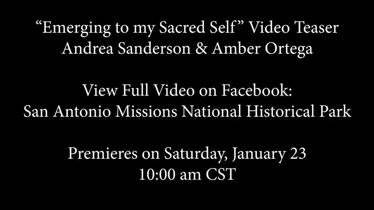 """Celebrate @DreamWeekSA with us tomorrow at 10 am with the premiere of """"Emerging to my Sacred Self"""" on our Facebook. This collaboration with Poet Laureate Andrea Sanderson and Dance Artist Amber Ortega explores heritage, identity & self love. #MLKDay #PlotYourPath #findyourpark"""