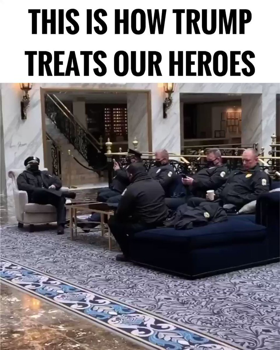 Replying to @RyanAFournier: This is how President Trump treats our law enforcement and military.  RT!