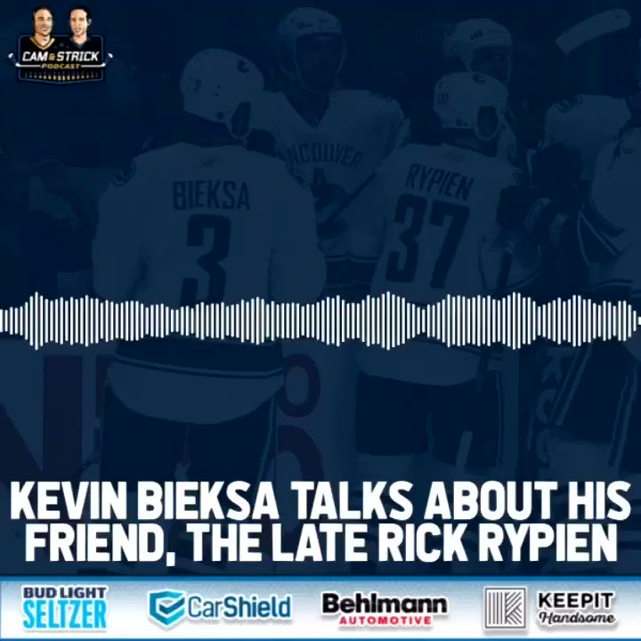 Kevin Bieksa reflects on his former #Canucks teammate, Rick Rypien,  who he invited to live with his family when he was going thru some personal struggles. Listen to an incredible interview with Bieksa, avail now on all platforms. ⁦@camandstrickpod⁩