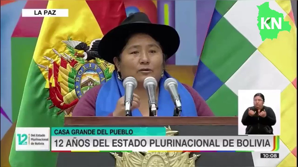 We must decolonize the entire state structure: Segundina Flores, leader of the Bartolinas on Day of the Plurinational State of Bolivia