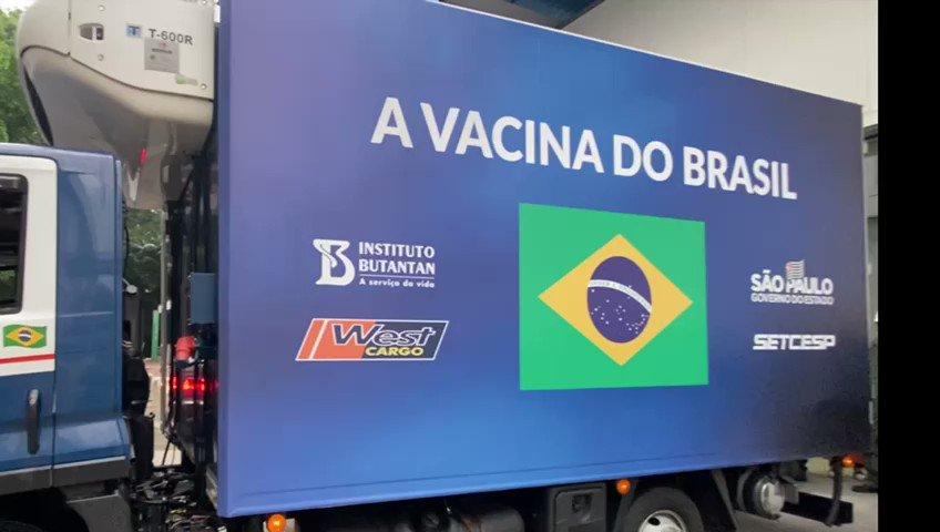 Vim até o Instituto Butantan para acompanhar a saída dos caminhões com mais 900 mil doses da Vacina do Butantan, que agora poderão imunizar mais brasileiros. Essas doses fazem parte do 2° lote de 4,1 milhões de vacinas que foi aprovado há pouco pela Anvisa para uso emergencial.