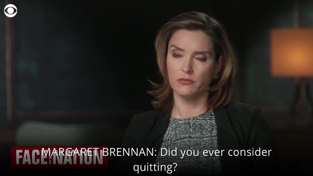 """WATCH: @margbrennan: """"Did you ever consider quitting?""""  Birx: """"Always...I had to ask myself every morning: is there something that I think I can do that would be helpful in responding to this pandemic?""""   More on Sunday's @FaceTheNation on @CBS"""