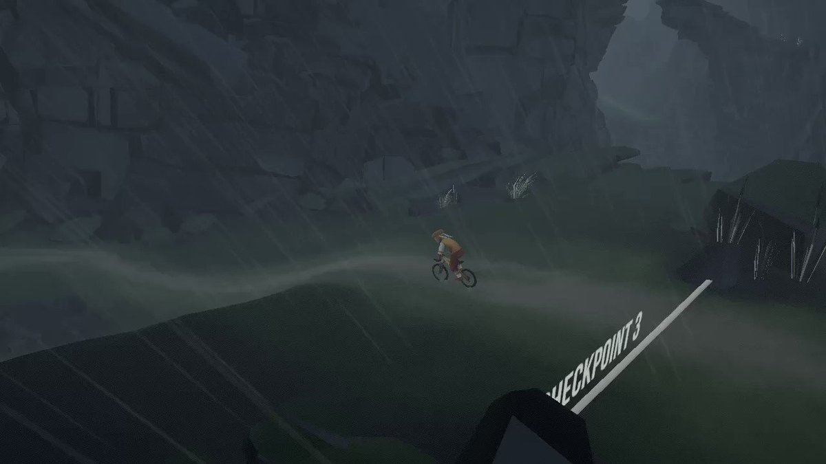 What a glorious feeling biking in the rain :D #LonelyMountains  #NintendoSwitch