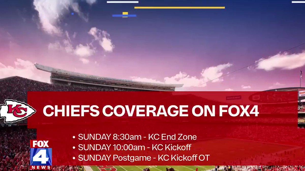 Here's the Sunday slate of #Chiefs coverage for you on @fox4kc @fox4sports and .  #ChiefsKingdom #BillsMafia  #fox4kc