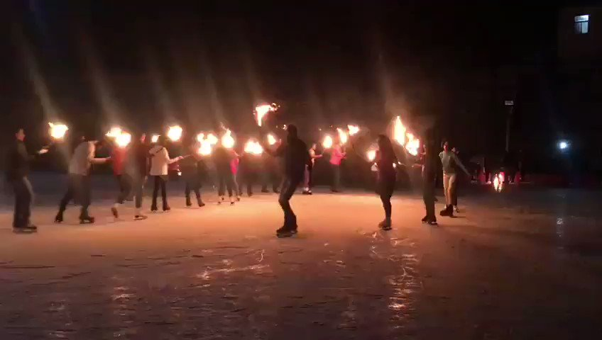 Torchlight evening at the Shimla ice skating club.  #Wednesdayvibe #shimla #HimachalPradesh #skating