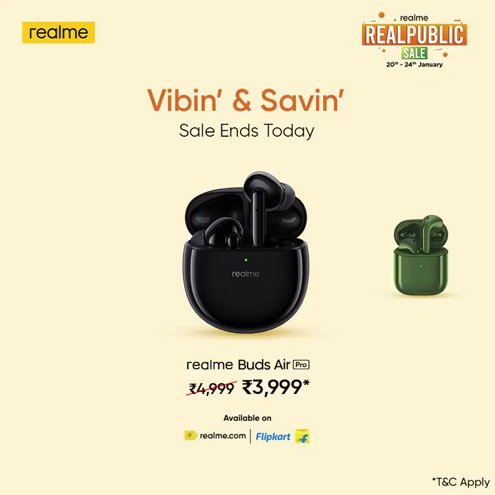 Offers so great, they are like music to your ears! Get your favourite buds at exciting prices* when you shop at the #RealpublicSale. Don't miss out on the last day!  *T&C Apply Head here: