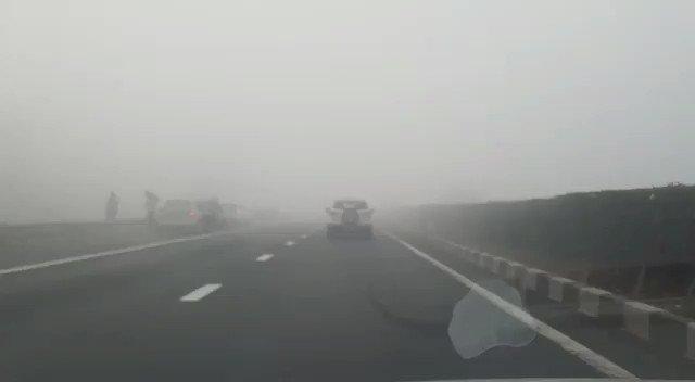 अगर आप #Ahmedabad #vadodadra #Expresshighway से सफर कर रहे है तो जरा संभलकर, लौ विज़िबिलिटी से हो सकती है दिक्कत  #Traveller #WINTER #accidents