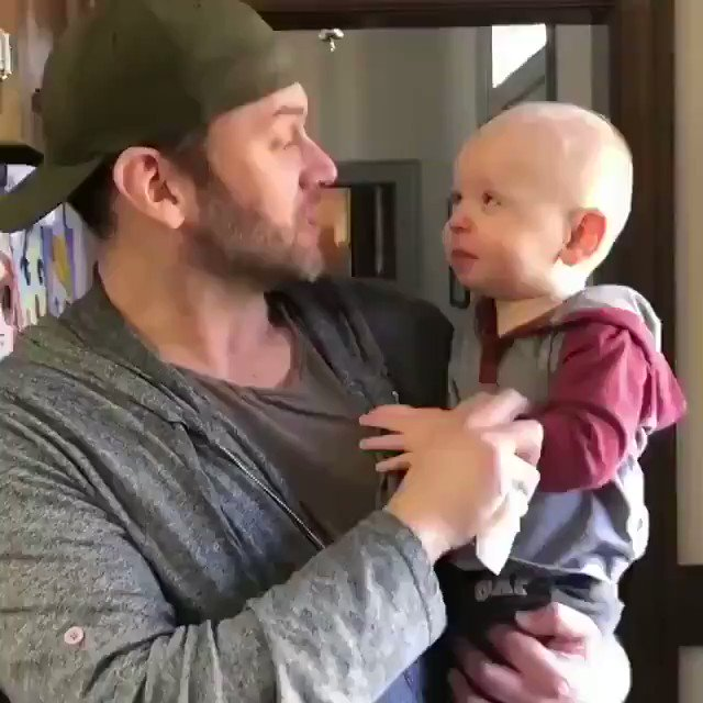 Replying to @buitengebieden_: Baby trying to do beatboxing with his father..  Sound on 😊