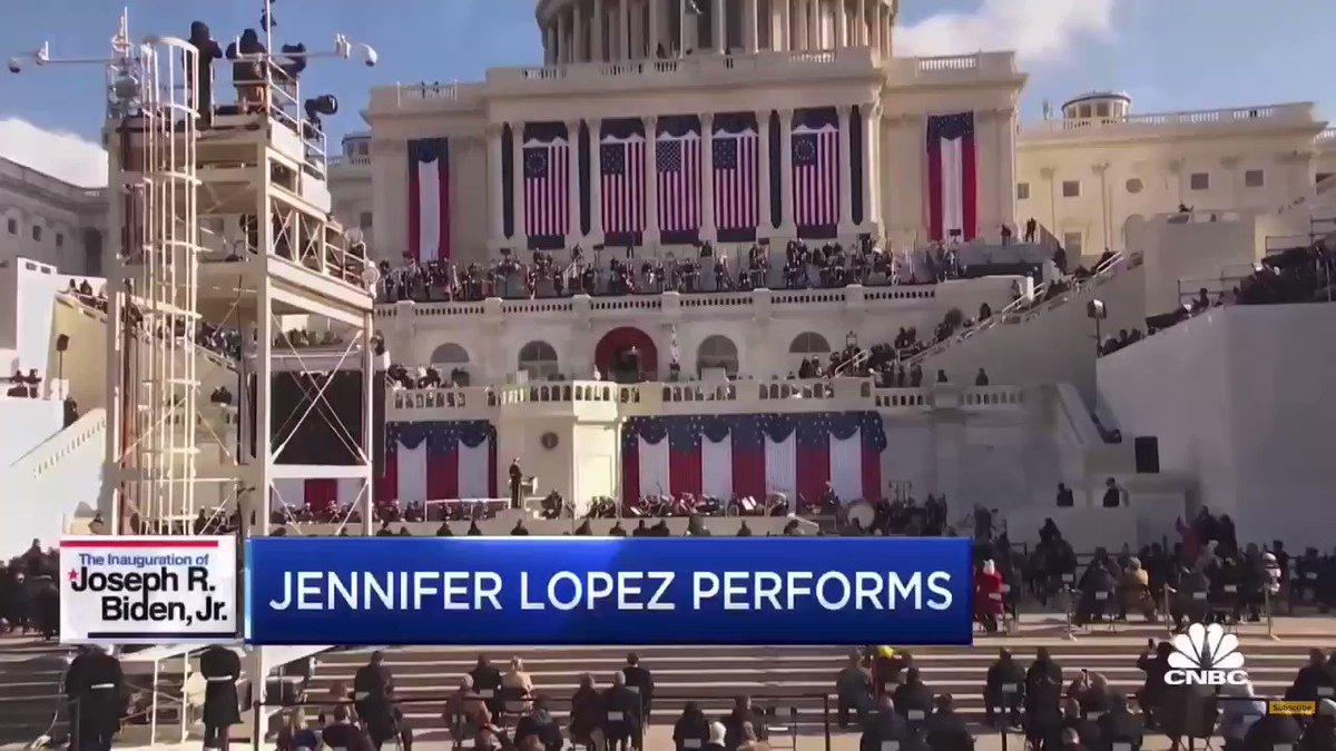 Don't ask me why I did it but I did 😭😭😭😭 @JLo #InaugurationDay #JLo #JenniferLopez #ThisLandIsYourLand #OnTheFloor