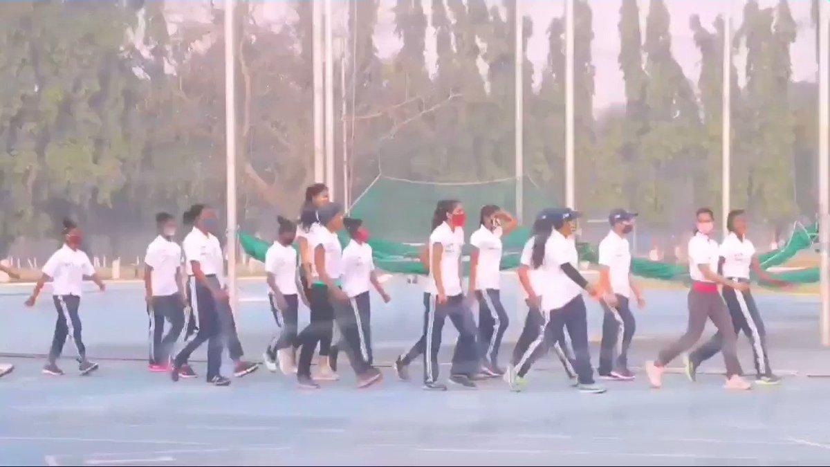The Trainees, Coaches and staff of #SAI observed the occasion of 125 th Birth Anniversary of #NetajiSubhasChandraBose at Netaji Institute of sports, #Patiala, #Kolkata, #Bengaluru. #PrakramDiwas #Netaji125 #Netaji  @narendramodi #VictoriaMemorial  Jai #ShriRam @ZeeNews @aajtak