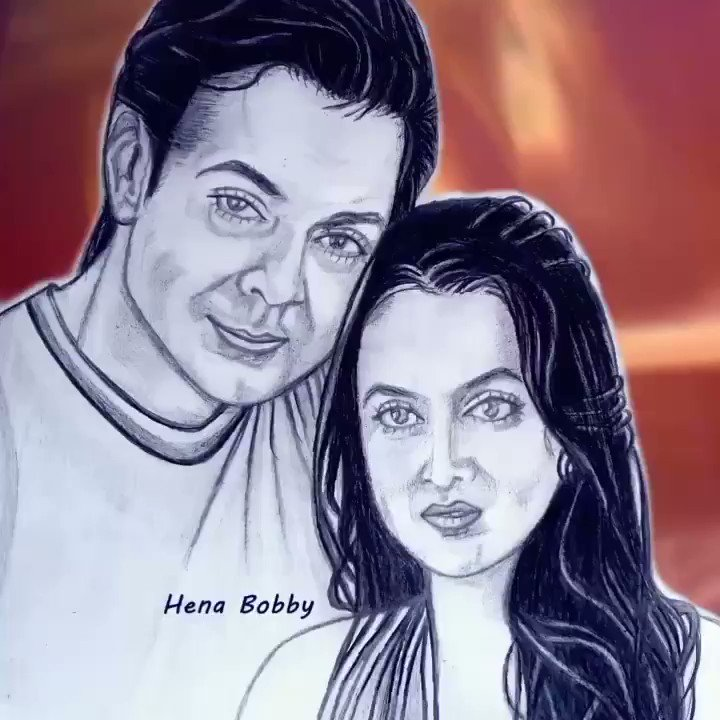 This is My New Portrait for the most cute couple in the world😍❤❤ Happy happy birthday Tania😍 wish you all the happiness with your great family ❤❤🙏 @thedeol 💖  #HappyBirthdayTaniaDeol #BobbyDeol #TaniaDeol #TanyaDeol #HappyBirthdayTanyaDeol #TheDeol