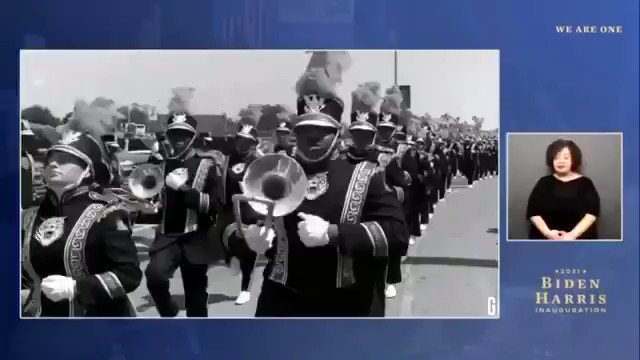 "#FBF - Since we're still celebrating the inauguration of President Joe Biden & VP Kamala Harris  Here is the featured performance of the GSU ""World Famed"" Tiger Marching Band   🎺 🥁 🎶 🎷 🎵   #bideninauguration #bidenharrisinauguration #gsutigers #worldfamedtigermarchingband"