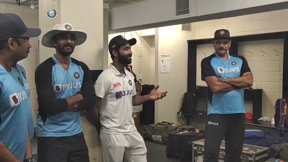 As we draw curtains on our historic triumph and start our preparations for the home series, here's Captain @ajinkyarahane88's address to #TeamIndia from the Gabba dressing room.   Full 🎥