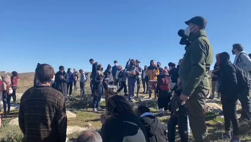 HAPPENING NOW: More than 100 Palestinian, Israeli, and international activists are in the Palestinian village of Tawamin in the occupied South Hebron Hills where settlers have been harassing Palestinians for days. The army is threatening the activists.