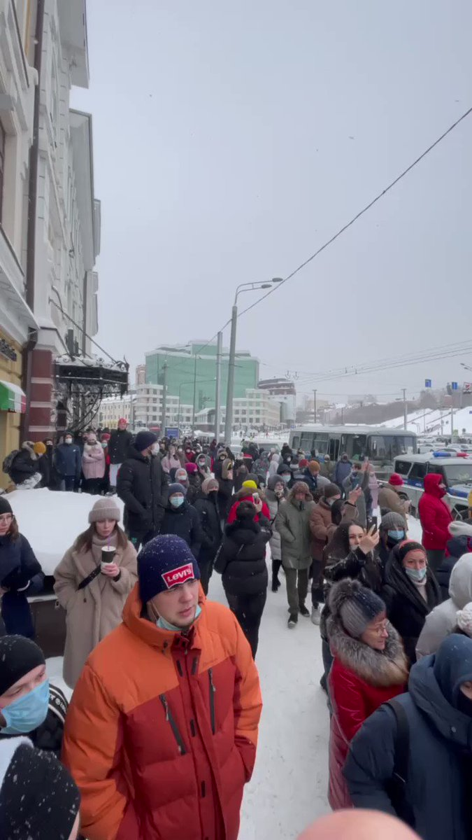 Protests reach Kazan, #Tatarstan, which usually tries to keep off the federal agenda with strict control over regional opposition.  #Navalny #navalnyprotests