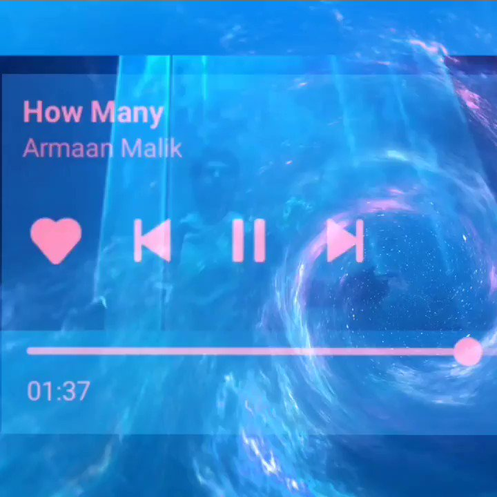 An edit for my favorite hooman and the song I've been lately obsessed to!   @ArmaanMalik22 #HowMany is as great as you 🥺💙❤️