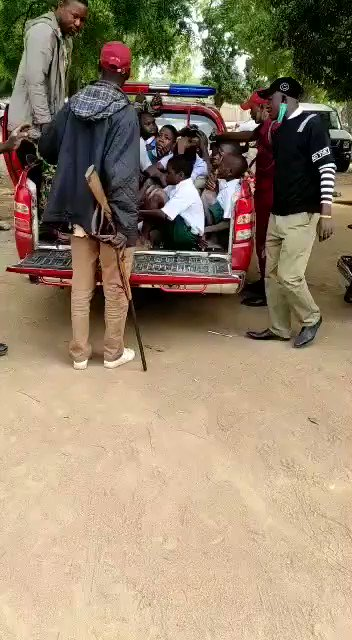 "🐆 Amotekun ""Moral"" Enforcers in South West Nigeria.  School Children arrested for modeling themselves after Nigerian Artist @officialnairam1"