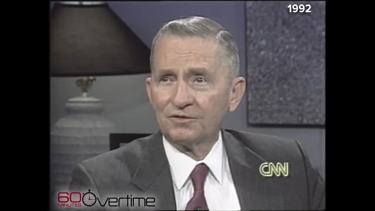 "In 1992, ""Mike from New York"" called into Larry King's CNN show to ask guest Ross Perot why he kept returning to face King's questions.  ""I've got missing teeth from being on the show with Larry. This nose wasn't broken till I met Larry,"" Perot explained"