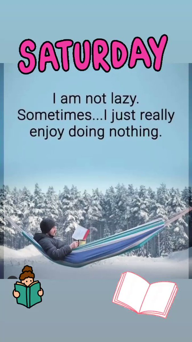 I am not lazy . Sometimes I just really enjoy doing nothing ! 🤣 #SaturdayThoughts #SaturdayVibes #SaturdayMorning