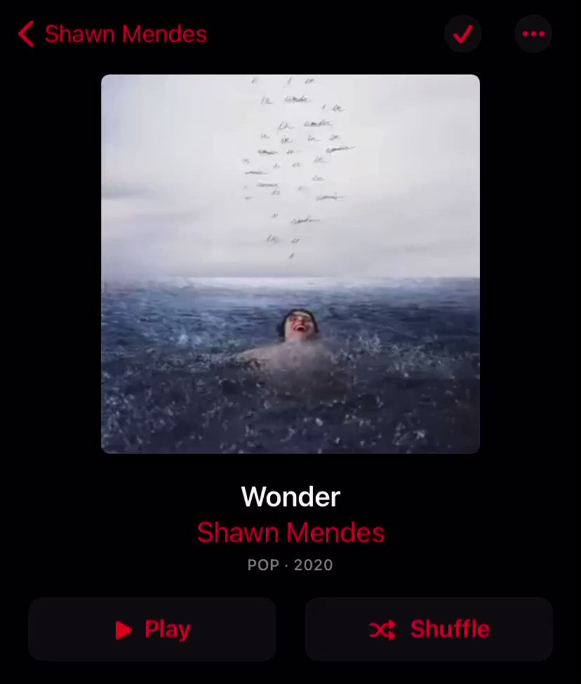 For any of the Apple Music Shawn Mendes Fans.. This is awesome! 👏 #ShawnMendes #Wonder #AppleMusic