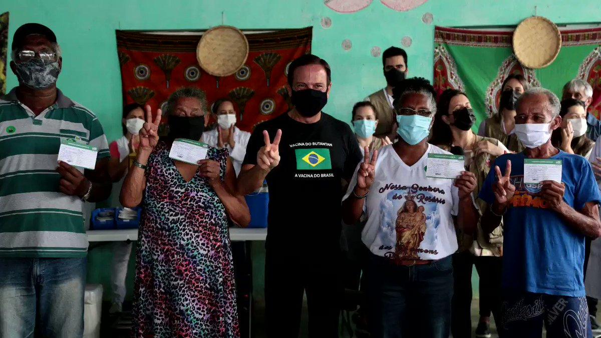 A população quilombola faz parte do grupo prioritário para receber a vacina do Butantan no Estado de São Paulo. Apesar da exclusão do Ministério da Saúde, mantivemos esse grupo na primeira fase do Plano Estadual de Imunização. #VacinaJá