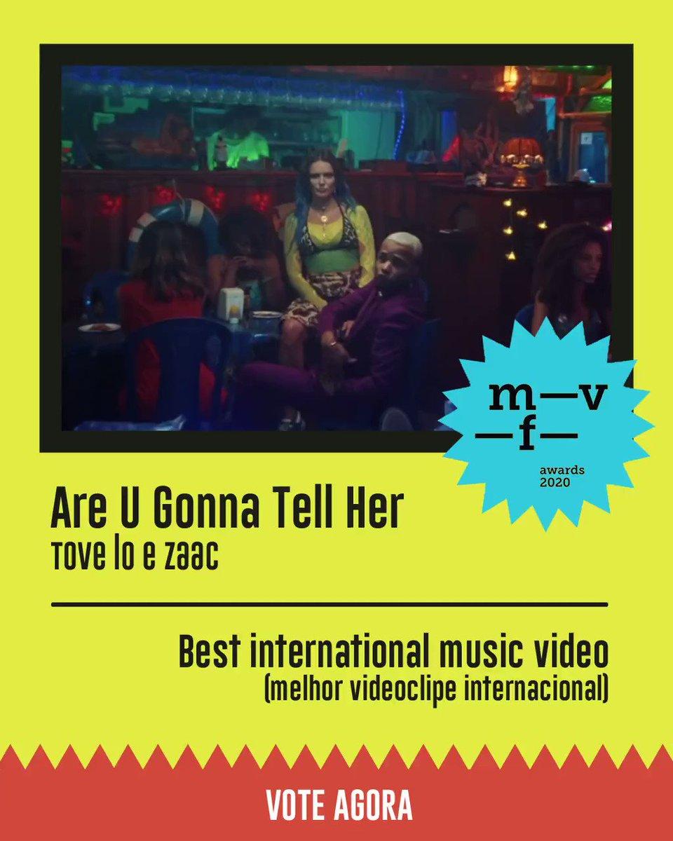 """Mais uma pra gente votar muito! 👊🏾💥""""Are U Gonna Tell Her"""", minha parceria com a @ToveLo, está concorrendo ao Music Video Festival na categoria Melhor Videoclipe Internacional! 🤩 A votação vai até segunda, dia 25, e o link tá aqui embaixo!"""