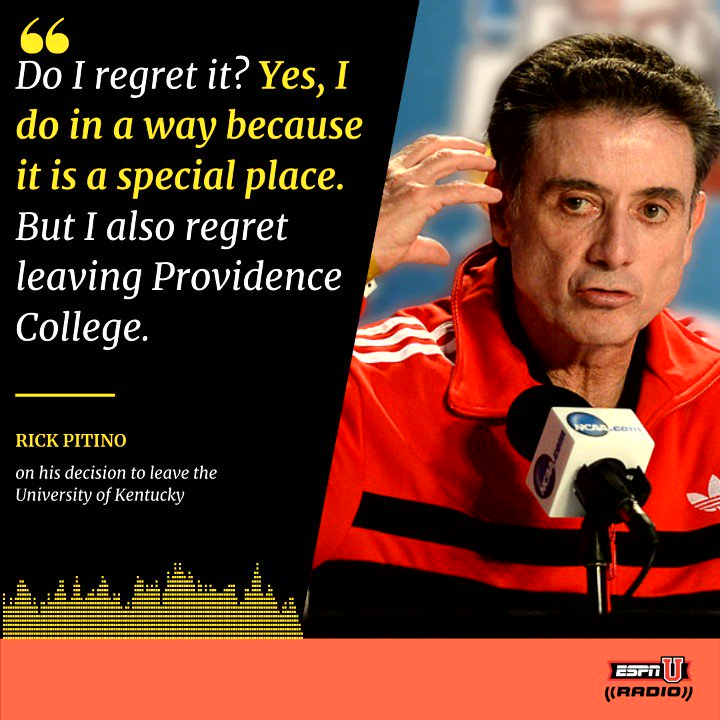 Even in a @hoophall career, over 40 years of coaching there are going to be regrets.   @RealPitino reveals some of the biggest regrets of his career to @dandakich #BBN