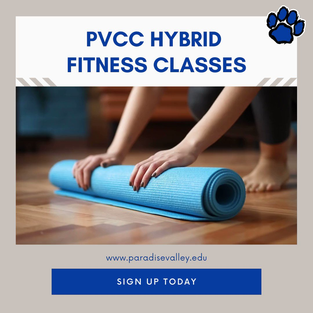 PVCC's #FitnessCenter is offering hybrid classes this semester!  💪💻  Sign up for one of the following options:     #BodySculpting #SelfDefense #FitnessAerobics #HipHop #KickBoxing #KungFu #Pilates #QiGong #TaiChi #Yoga #Zumba