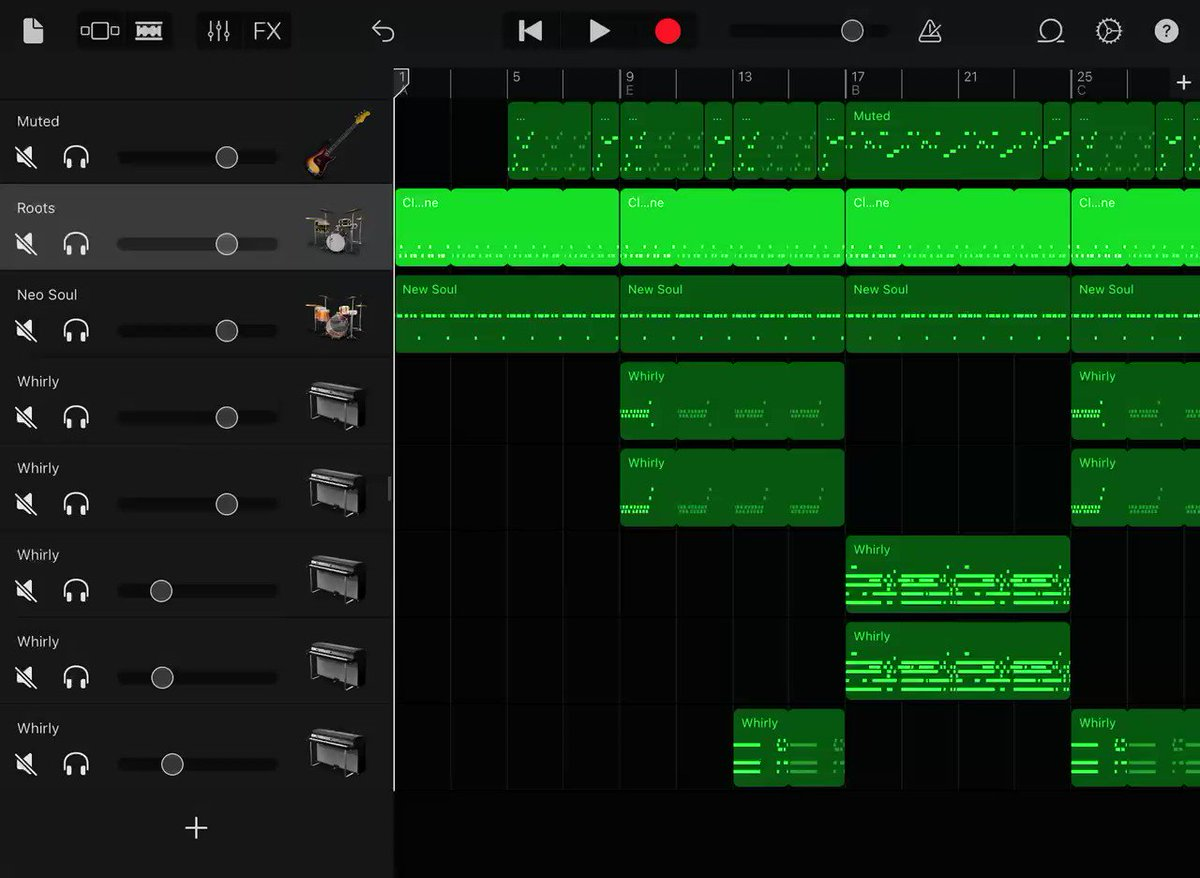 Had a bassline stuck in my head all day! 😙 🎶  Sometimes you just have to do something with it to get it out of there... 🙃 #AppleEDUchat #EveryoneCanCreate #GarageBand #ADE2021