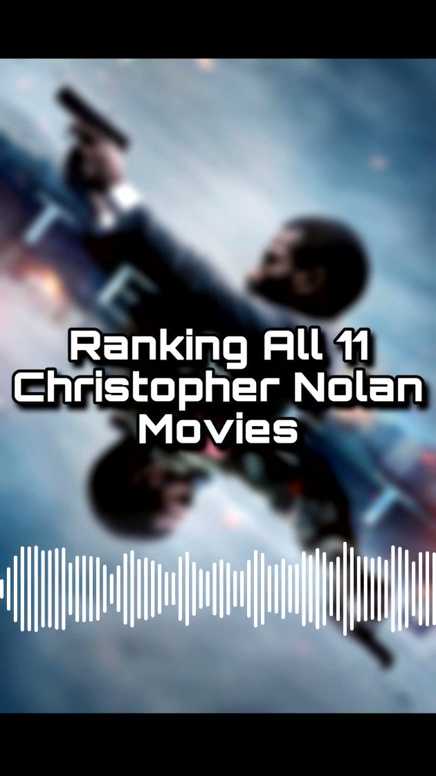 Just released a new episode today where we rank all 11 Christopher Nolan films! Check it out! Link in bio for all platforms! #FilmTwitter #ChristopherNolan #TENET #movies #podcast #film