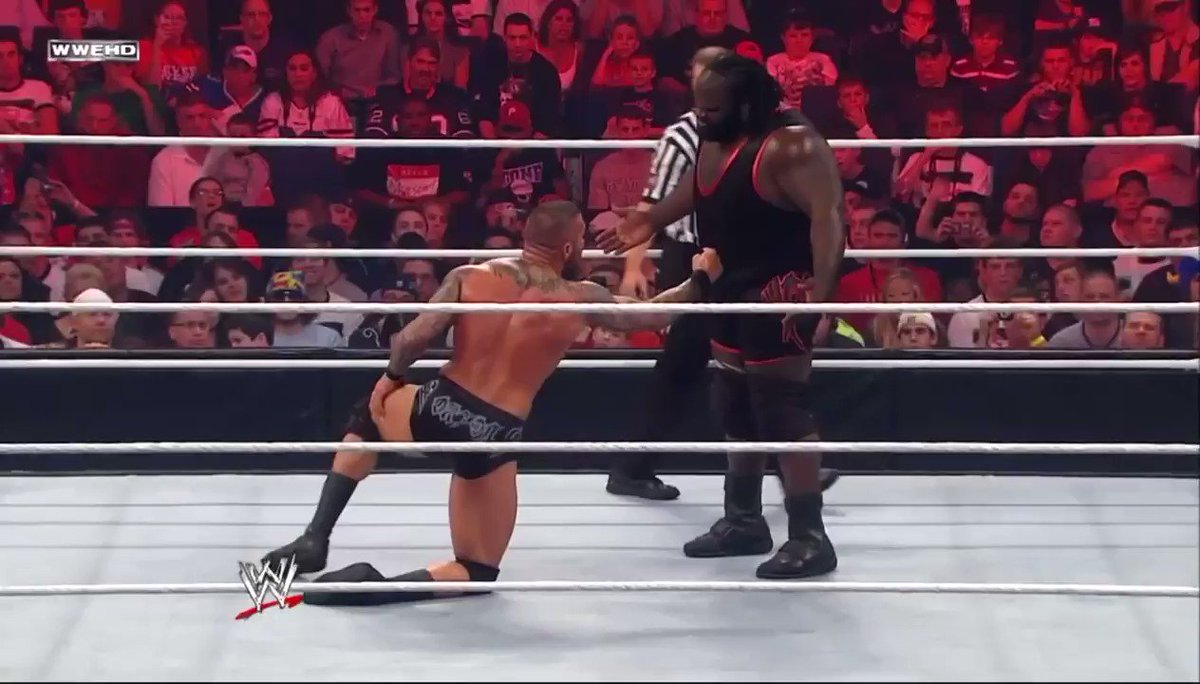 A Moment in Black History: @TheMarkHenry defeats @RandyOrton to win his first WWE World Heavyweight Championship #ASHOWBHM ✊🏾