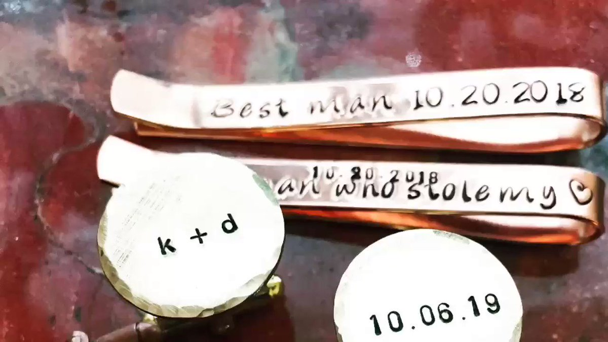 PersonalizedByHand🔥💕  #etsyRT #etsy #etsyretwt #groom #bride #wedding #bridesmaids #weddingparty #personalizedjewelry #engaged #momlife #family #anniversary #graduation #weddinginspiration #kiss #love #home #peace #inspire #laugh #IOwnARidiculousAmountOf