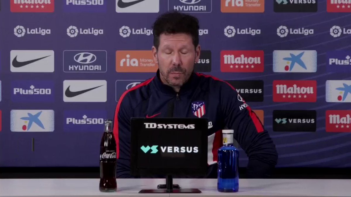 "#Simeone hails #Suarez: ""Great enthusiasm, hunger, grit...""  @Atleti will host #Valencia in #LaLiga on Sunday. Simeone's side are firmly on top of the standings, 7⃣️points clear of second-placed #RealMadrid and with one game in hand. @ATLETINY #AtletiValencia #AúpaAtleti"