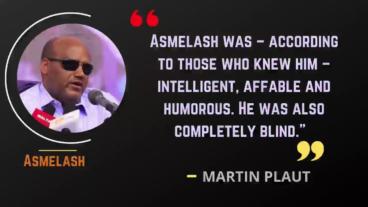 """Asmelash lost his sight during the war against the Derg of 1974-1991. He later lost his left arm during the bombing of Mekelle during the 1998-2000 border war with Eritrea."" He lost his life from the current #WarOnTigray. @martinplaut #TigrayGenocide"
